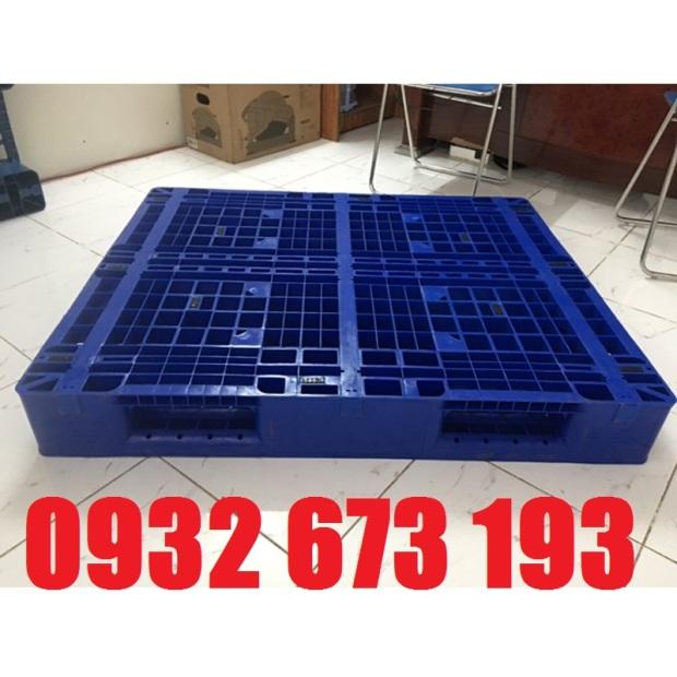 pallet nhựa mới kt 1100x1100x125mm Xanh Dương